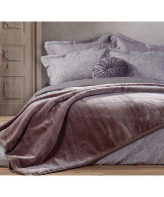 Βελουτέ Κουβέρτα Υπέρδιπλη Premium WARM της NEF-NEF (230x240) ANTHRACITE