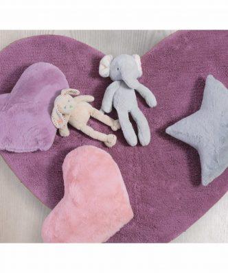 Παιδικό Χαλί JUNIOR HEART της NEF-NEF (125x100) MAUVE