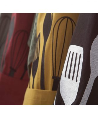 Σετ Ποδιά & Γάντι Κουζίνας COOKING της NEF-NEF (63x79+18x33) BORDO