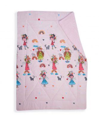 Κουβερτοπάπλωμα Μονό RAINBOW GIRLS της NEF-NEF (160x220) PINK