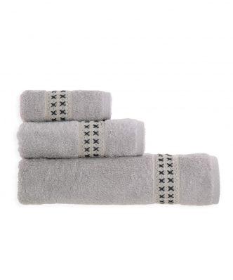 Σετ (3τμχ) Πετσέτες Μπάνιου FLEXI της NEF-NEF - GREY
