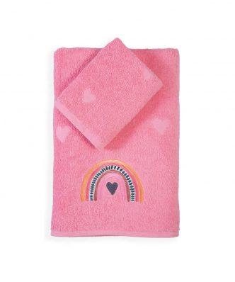 Σετ (2τμχ) Παιδικές Πετσέτες Μπάνιου RAINBOW GIRLS της NEF-NEF (30x50+70x140)