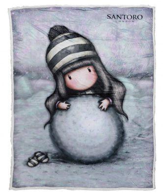 Παιδική Κουβέρτα Fleece Μονή με γουνάκι SANTORO GORJUSS - THE SNOW GIRL 5033 της DAS HOME (160x220) - ΓΚΡΙ
