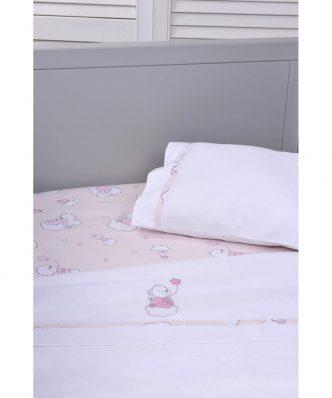 Σετ (3τμχ) Βρεφικά Σεντόνια Κούνιας με Κέντημα Design 168 της Baby Oliver (110x160)