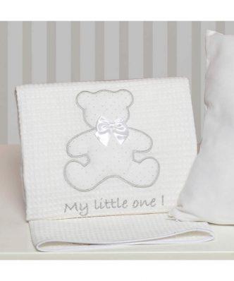 Βρεφική Πικέ Κουβέρτα Κούνιας My Little One Design 330 της Baby Oliver (100x140)
