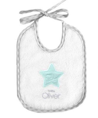 Βρεφική Σαλιάρα Lucky Star Mint Design 304 της Baby Oliver (20x25)