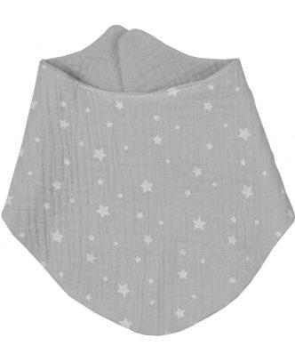 Βρεφική Σαλιάρα Μπαντάνα Διπλής Όψης Muslin Grey Design 370 της Baby Oliver (59x24) ΓΚΡΙ