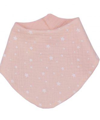 Βρεφική Σαλιάρα Μπαντάνα Διπλής Όψης Muslin Pink Design 372 της Baby Oliver (59x24) ΣΩΜΟΝ