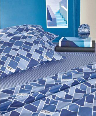 Σετ Παπλωματοθήκη Ημίδιπλη PANTONE 0901 της ΚΕΝΤΙΑ (180x240) - BLUE