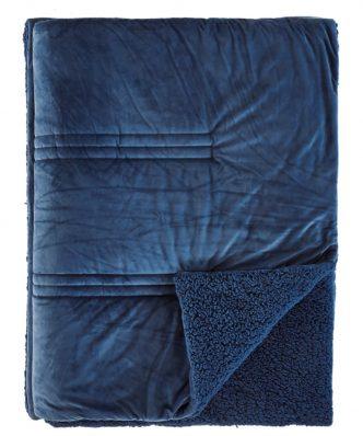 Κουβερτοπάπλωμα με Γούνα NOTTURNO 01 της ΚΕΝΤΙΑ - BLUE