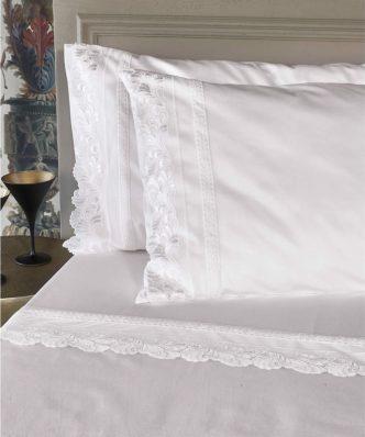 Σετ Βαμβακοσατέν Σεντόνια Υπέρδιπλα JULIANA της ΚΕΝΤΙΑ (240x270) - WHITE
