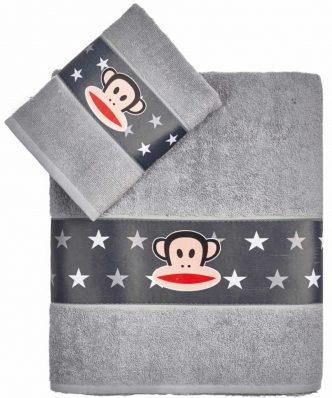 Σετ Παιδικές Πετσέτες Μπάνιου (2 τμχ) PAUL FRANK 29 της ΚΕΝΤΙΑ - GREY