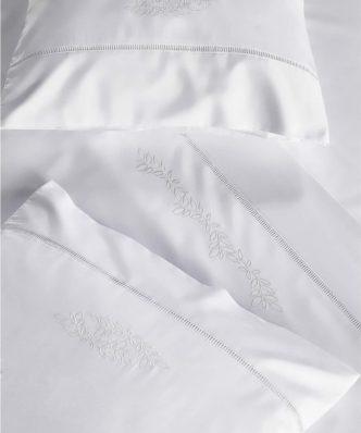Σετ Σεντόνια Περκάλι Υπέρδιπλα με Κέντημα CLAIRY της ΚΕΝΤΙΑ (240x270) - WHITE