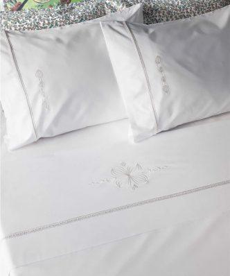 Σετ Σεντόνια Περκάλι Υπέρδιπλα ELISABETH της ΚΕΝΤΙΑ (240x270) - WHITE