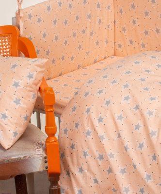 Βρεφική Πάνα Baby Line MINI STARS της MELINEN (85x85) - ROSE