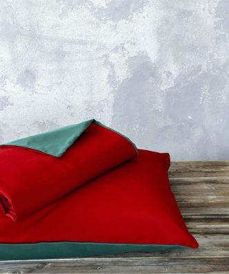 Πάπλωμα Μονό ABALONE της NIMA HOME (160x240) - Red / Green