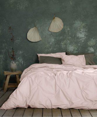 Σετ Παπλωματοθήκη King Size (Γίγας) Arcata της NIMA HOME (240x260) - Dusty Pink