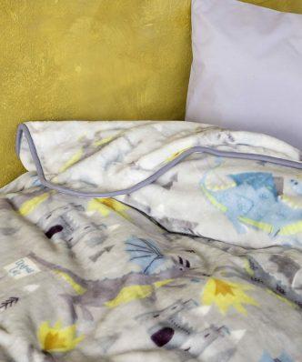 Παιδική Κουβέρτα Βελουτέ Μονή Dragon Lair της NIMA HOME (160x220)