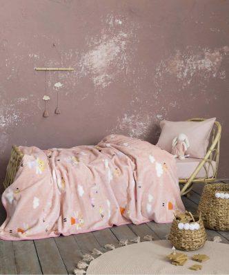 Παιδική Κουβέρτα Βελουτέ Μονή Fairytale της NIMA HOME (160x220)