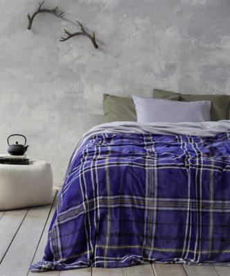 Fleece Κουβέρτα Kester της NIMA HOME - Blue
