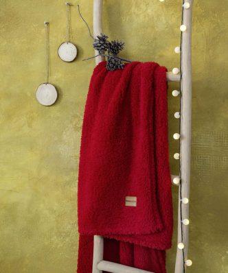 Fleece Κουβέρτα Manta της NIMA HOME - Red