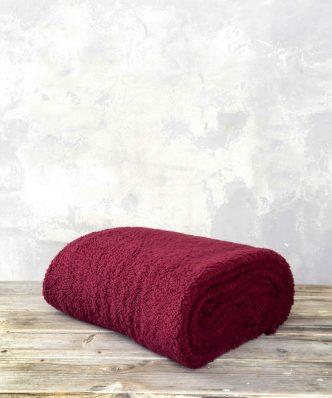 Ριχτάρι/Κουβέρτα Καναπέ Manta της NIMA HOME (130x170) - Wine Red