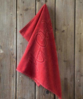 Πετσέτα Κουζίνας Merry Christmas της NIMA HOME (50x70) - Red